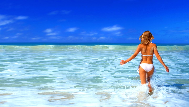 Protetor solar e Praia