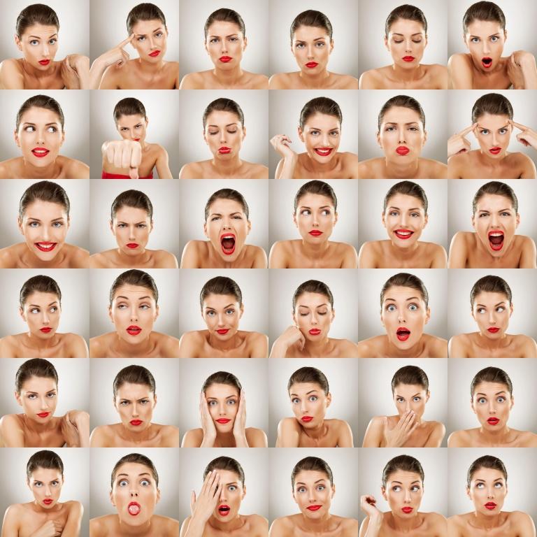Vários rostos