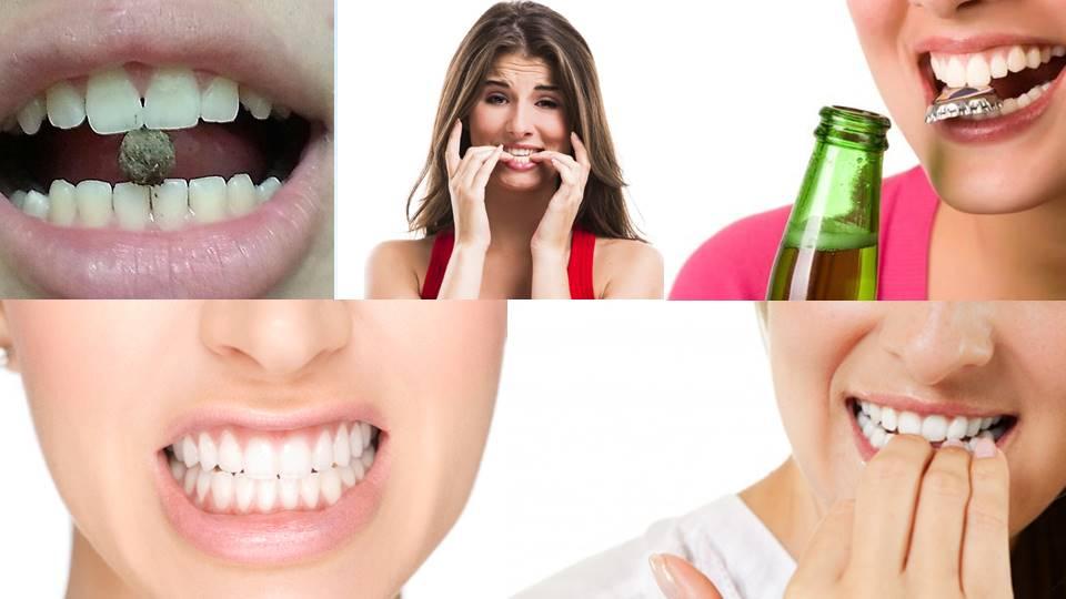 Dentes desgastados Roer unhas