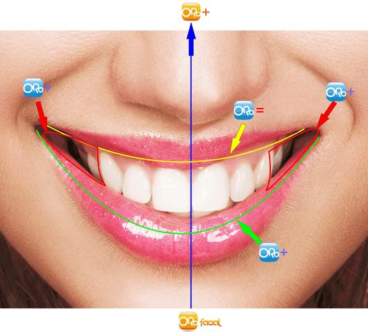 Linha do lábio inferior e do lábio superior